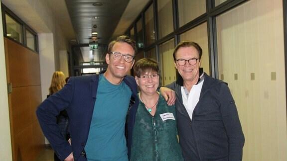Erinnerungsfoto mit Peter Imhof und Wolfgang Lippert.