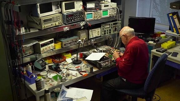 Das Lautsprecher-Studio von Joachim Kiesler in Geithain.