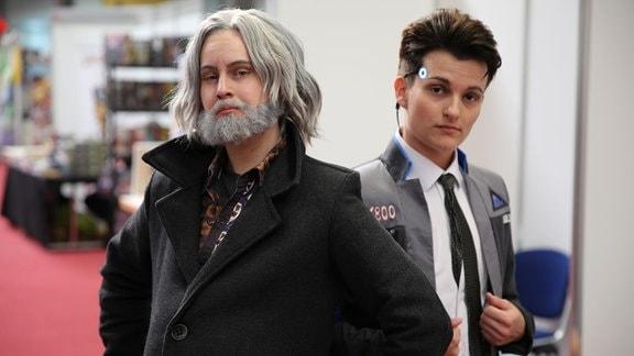Cosplay Hank und Connor aus Detroit Become Human.