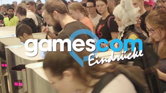 "Logo gamescom mit dem Schriftzug ""Eindrücke"""