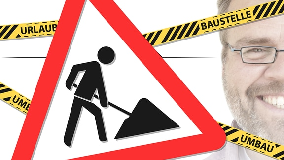 Teaserbild für GRIMBERG – Baustellenschild und Absperrband