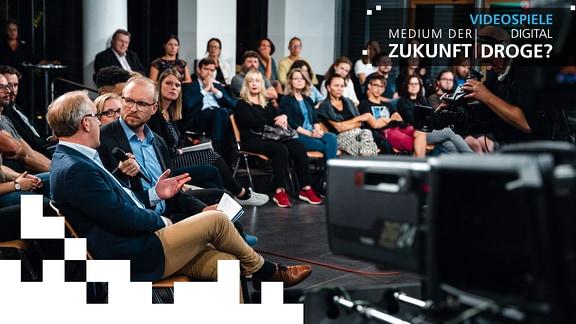 """Teaserbild zur Podiumsdiskussion zu """"PLAY"""" - Video"""