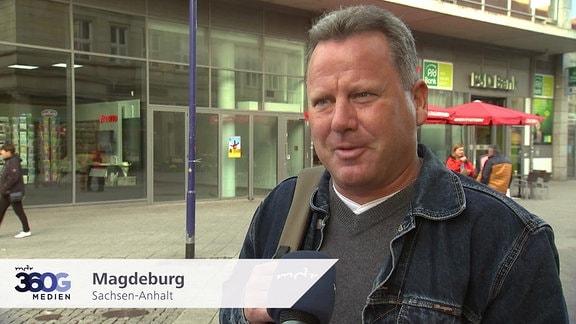 Mann in Magdeburg, Sachsen-Anhalt