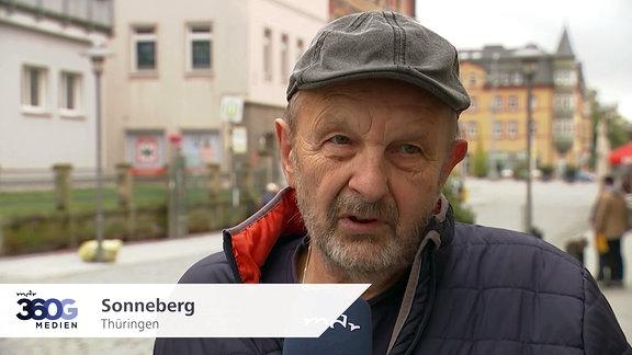 Mann in Sonneberg, Thüringen