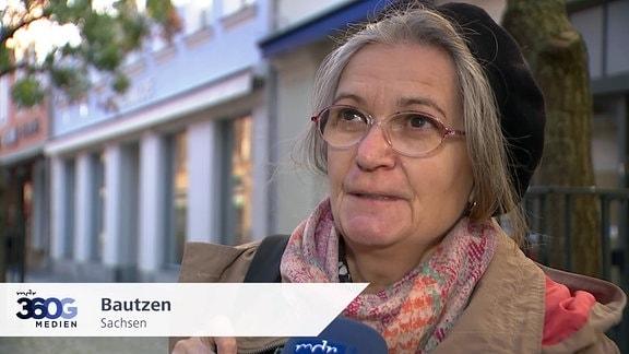 Frau in Bautzen, Sachsen
