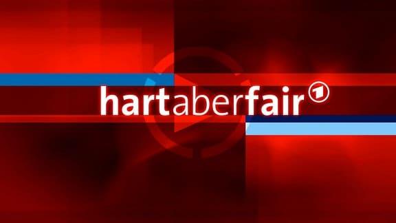 Logo der Sendung hart aber fair