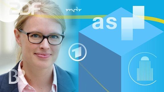 Prof. Dr. Nora Markard und Logos von Medienanstalten.