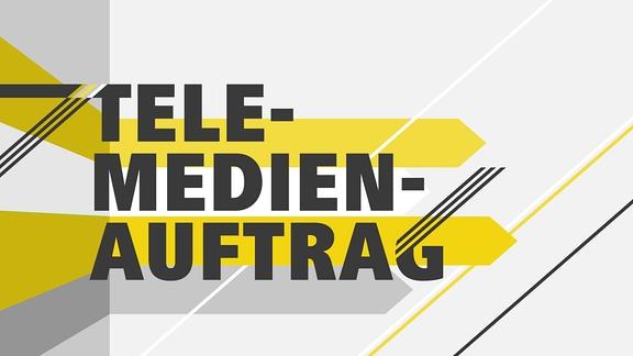 """Teasergrafik mit dem Schriftzug """"Telemedienauftrag"""""""