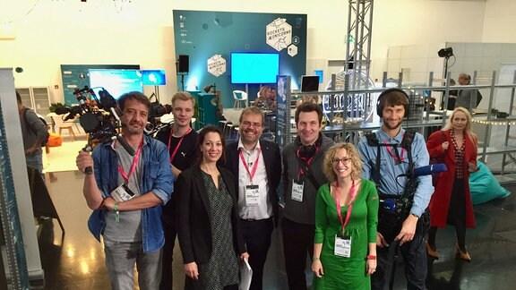 von den Medientagen München 2018: das Team von MEDIEN360G