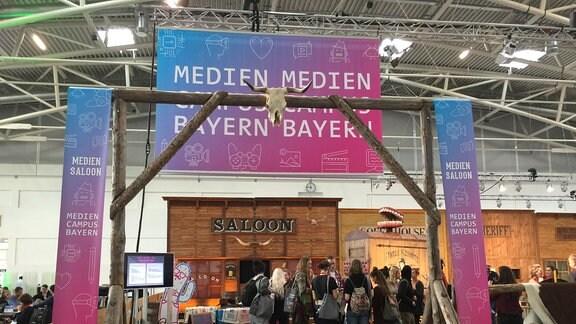 von den Medientagen München 2018: Mediencampus im Wild West Style