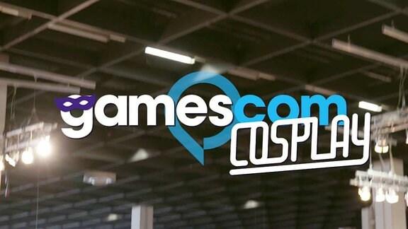 Logo gamescom sowie Schriftzug COSPLAY