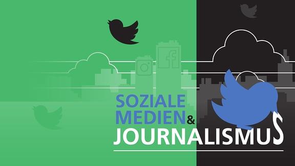 Twittervogel verzerrt das Wort Journalismus