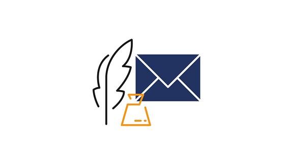 Das Logo von MEDIEN360G auf Sprechblasen. Verlinkung zum Kontaktformular.