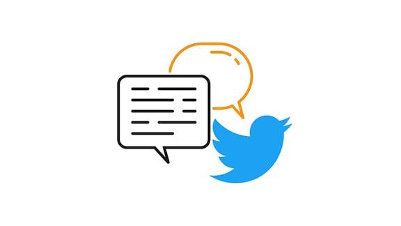 Twitter-Logo mit Sprechblasen. Verlinkung zur Twitter-Seite von MEDIEN360G.