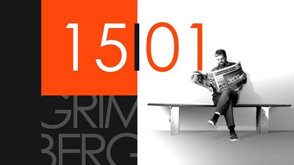 """Teaserbild für GRIMBERG – Die Kolumne am 15. Januar 2019: Schriftzug """"15/01""""."""