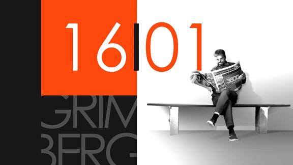 """Teaserbild für GRIMBERG – Die Kolumne am 16. Januar 2019: Schriftzug """"16/01""""."""