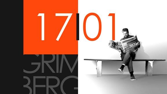 """Teaserbild für GRIMBERG – Die Kolumne am 17. Januar 2019: Schriftzug """"17/01""""."""