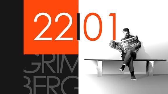 """Teaserbild für GRIMBERG – Die Kolumne am 22. Januar 2019: Schriftzug """"22/01""""."""