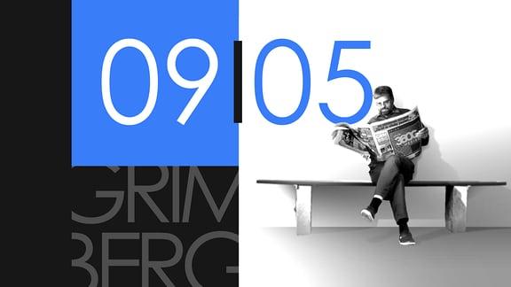 """Teaserbild für GRIMBERG – Die Kolumne am 9. Mai 2019: Schriftzug """"09/05""""."""