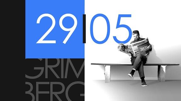 """Teaserbild für GRIMBERG – Die Kolumne am 29. Mai 2019: Schriftzug """"29/05""""."""