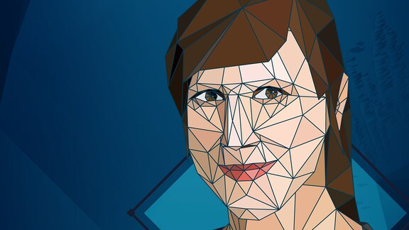 Juliane Wiedemeier im Low Poly Stil