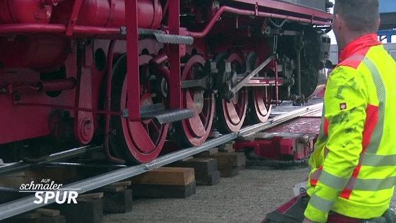 Molli zu Gast bei der Borkumer Inselbahn