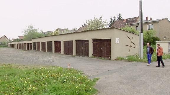Ein Garagenkomplex