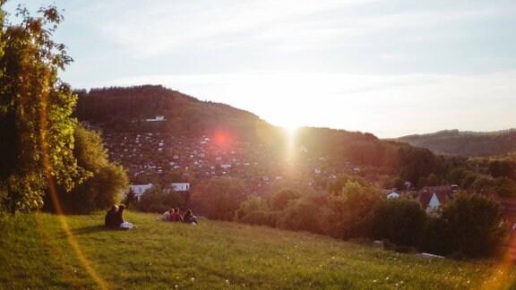 Sonnenuntergang , Friedensberg Jena
