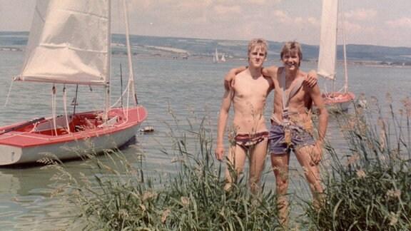 Segelfreunde: Steffen Schneider und Jörg Bethge