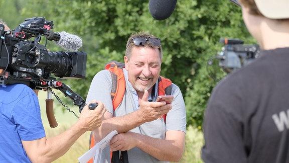Thomas Böttchers ist nun schon zum fünfte Mal auf Wanderschaft durch unsere Heimat.