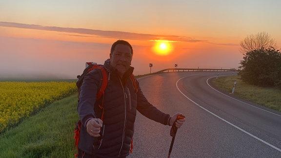 Thomas Böttcher auf Wanderung