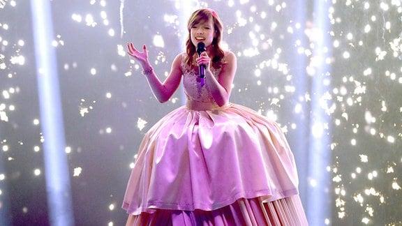 Marie Wegener beim Finale der 15. Staffel der RTL-Castingshow Deutschland sucht den Superstar