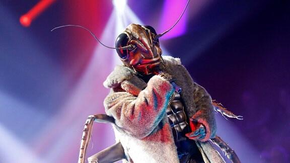 Die Kakerlake in der 1. Live Show der 2. Staffel The Masked Singer