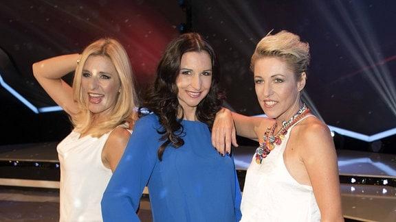Stefanie Hertel, Anita & Alexandra Hofmann bei der Aufzeichnung der TV Show Die Schlager des Jahres 2016