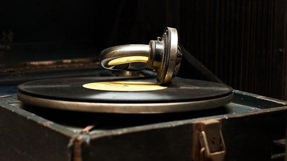 Ein altes Grammophon