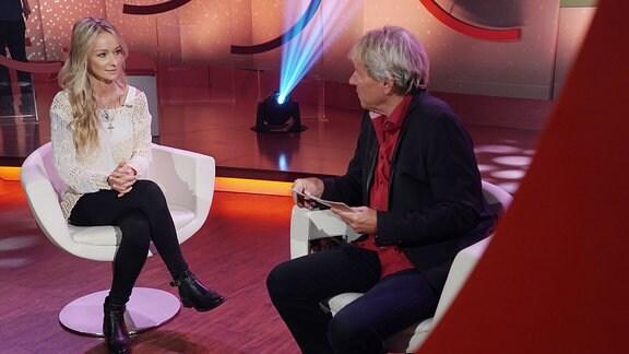 Christin Stark im Gespräch mit Bernhard Brink.