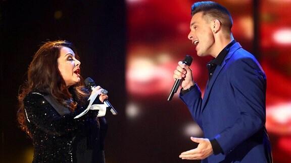 Eloy de Jong und Sängerin Marianne Rosenberg