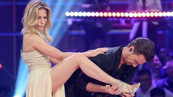 Helene Fischer und Florian Silbereisen auf der Bühne.