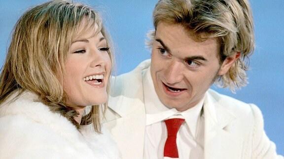 Sängerin Helene Fischer (SWE) und Fernsehmoderator Florian Silbereisen (GER), 2006.