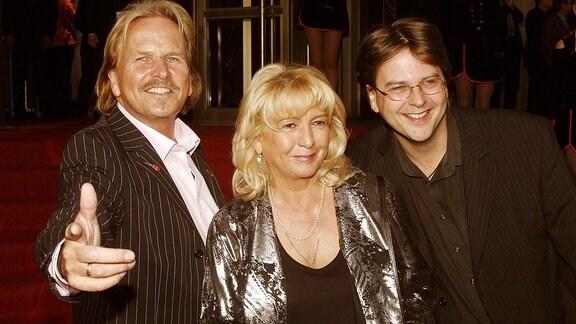 Sänger Frank Zander mit Frau und Sohn