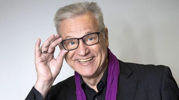Der deutsche Sänger Gerd Christian im Theater Meißen.