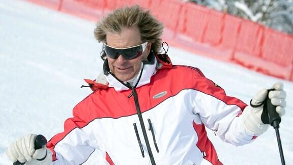 Hansi Hinterseer fährt in Kitzbühl Ski