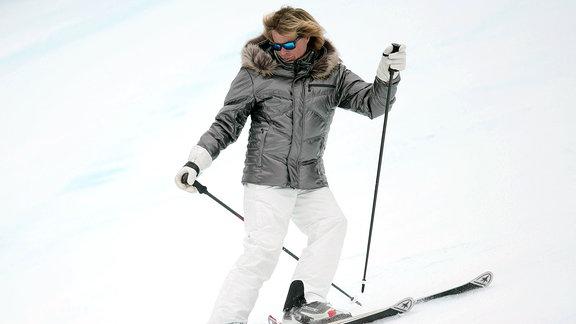 Hansi Hinterseer auf Skiern.