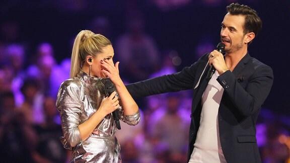 Helene Fischer und Florian Silbereisen bei der ARD-Show - Schlager Champions