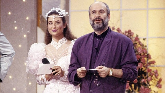 Drafi Deutscher und Isabel Varell in Flitterabend 1989.