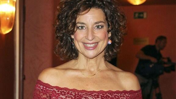 Isabel Varell bei der Premiere des Theaterstücks Diese Nacht - oder nie! in der Komödie im Bayerischen Hof.