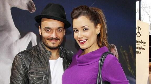 Giovanni Zarrella mit Ehefrau Jana Ina Zarrella (schwanger), 2013