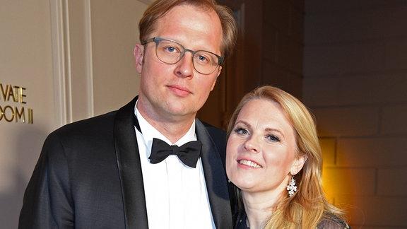 Patricia Kelly mit Ehemann Denis Sawinkin bei der United Hearts Charity Gala zugunsten der Stiftung Deutsche Schlaganfall-Hilfe im Titanic Hotel in Berlin am 25.02.2020