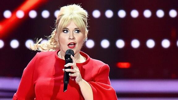 Maite Kelly tritt in der ZDF-Gala Willkommen bei Carmen Nebel im Velodrom auf.