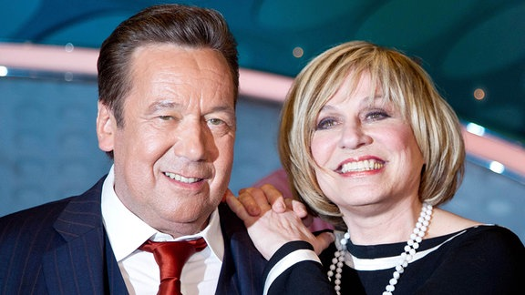 Sänger Roland Kaiser und Sängerin Mary Roos